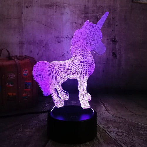 Colour-Changing 3D Unicorn or Rabbit Night Lights