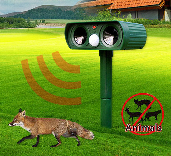 Solar-Powered Ultrasonic Animal Repeller
