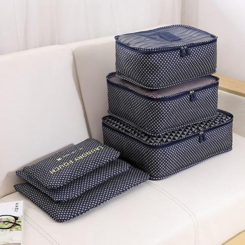 Six-Piece Set of Travel Organiser Storage Bags - Four Designs Available