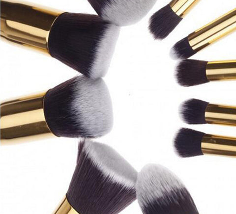 10pc/set Makeup Brush Set