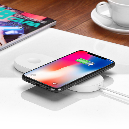 Ultra-thin 2 in 1 Qi Wireless Charging Pad