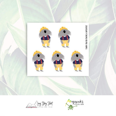 Koala Firie Charity Stickers