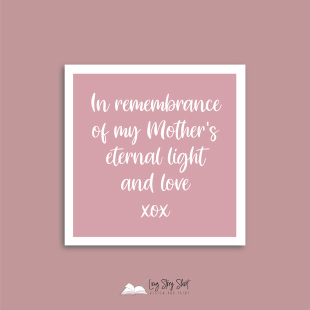 Blush Always in Our Hearts In Memory Vinyl Label Pack