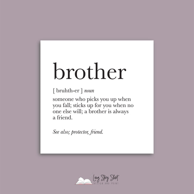 Brother Quote Vinyl Label Pack