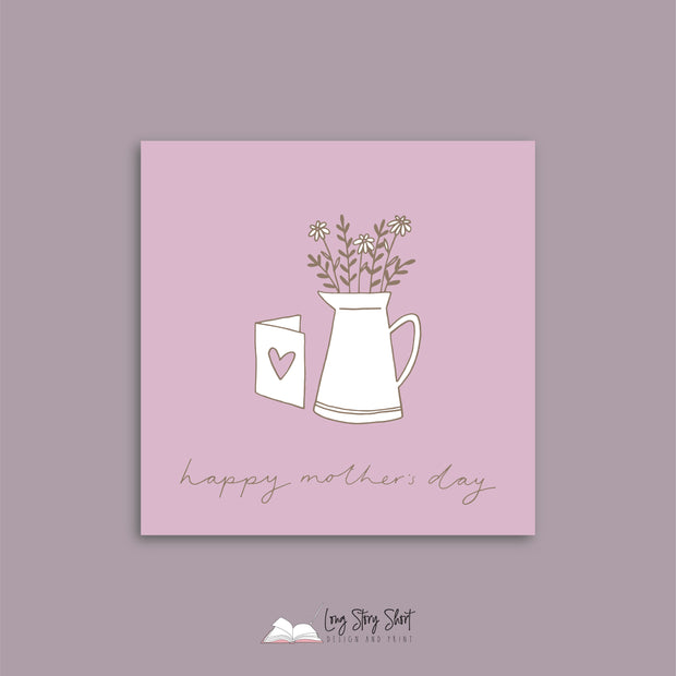 Lilac Vase Mothers Day Vinyl Label Pack