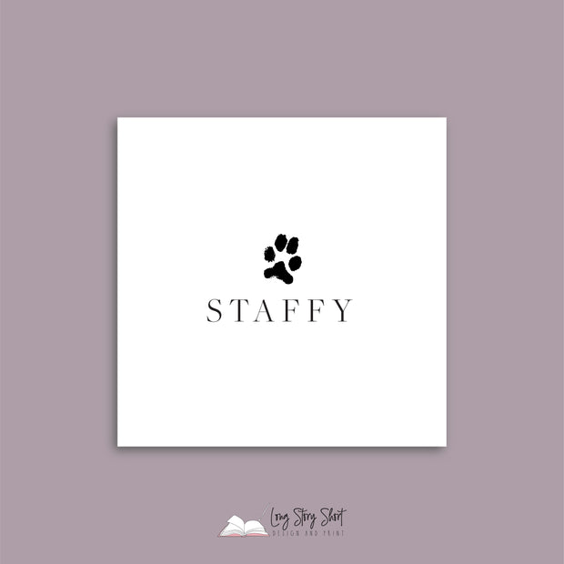 It's a Dog's Life (Staffy) Vinyl Label Pack