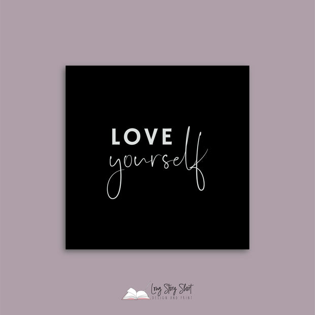 LSS017 Black Love Yourself Vinyl Label Pack