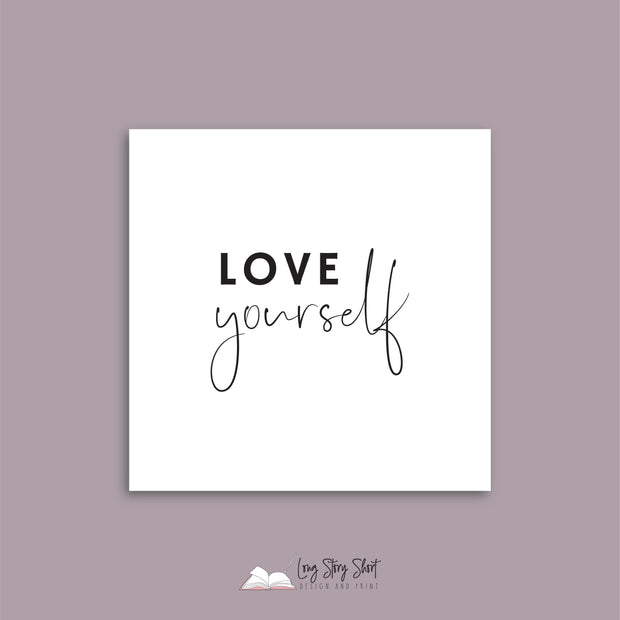 White Love Yourself Vinyl Label Pack
