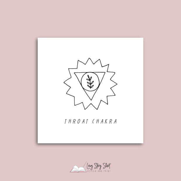 White Illustrated Chakra Vinyl Label Pack