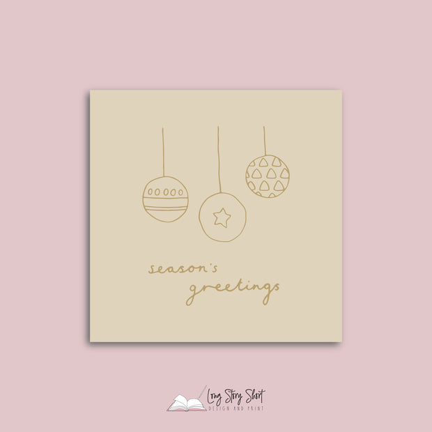 LSS142 Pastel Stars and Lights Christmas Vinyl Label Pack