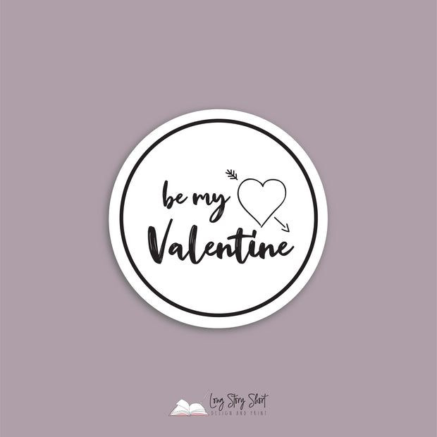 Be My Valentine Round Vinyl Label Pack