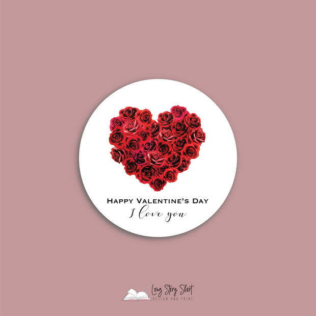 Valentines Day Round Vinyl Label Pack