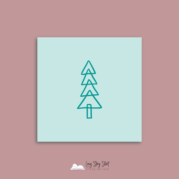 Mint Christmas Cheer Christmas Vinyl Label Pack