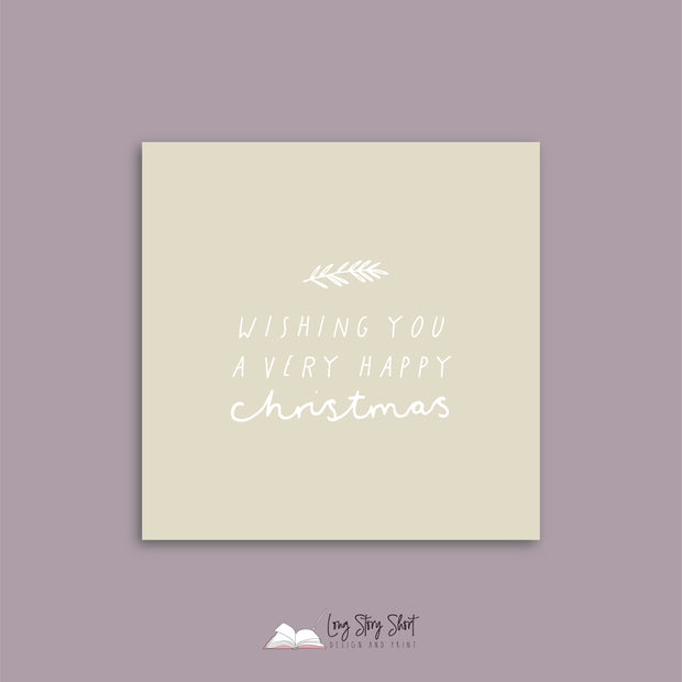 Mustard Have a Leafy Christmas Vinyl Label Pack