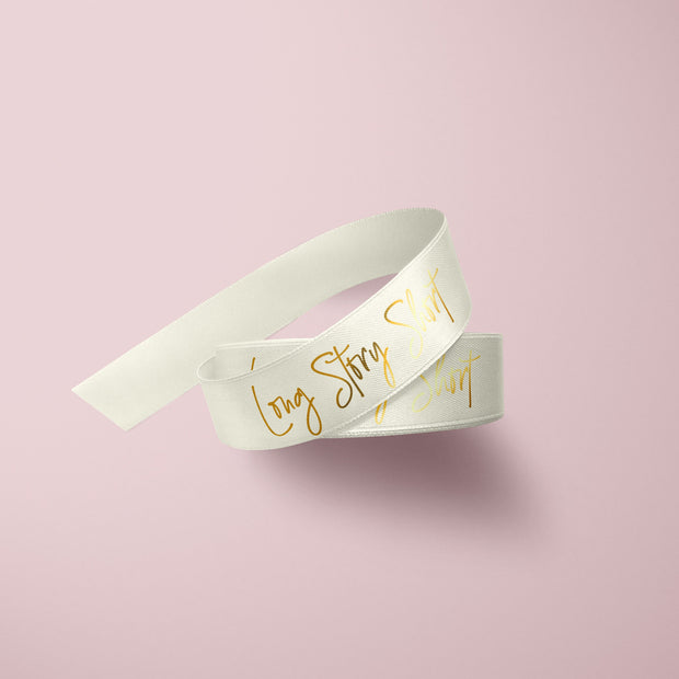 Custom Printed Ribbon - Champagne