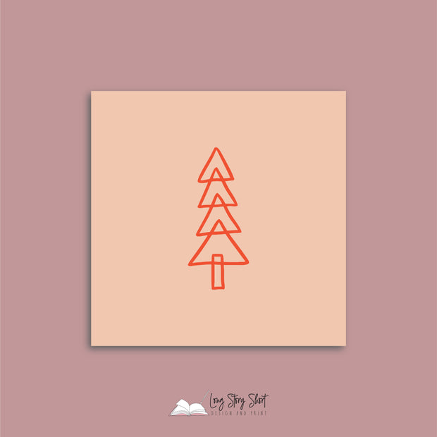 Peach Christmas Cheer Christmas Vinyl Label Pack