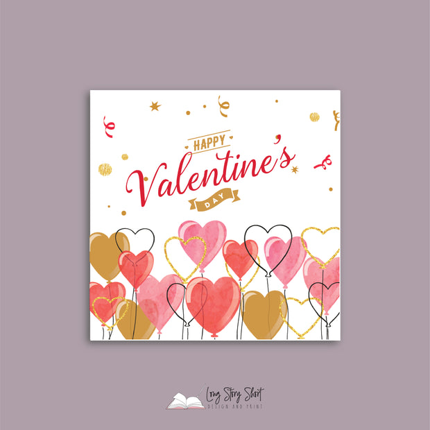 Valentines Day Square Label Packs