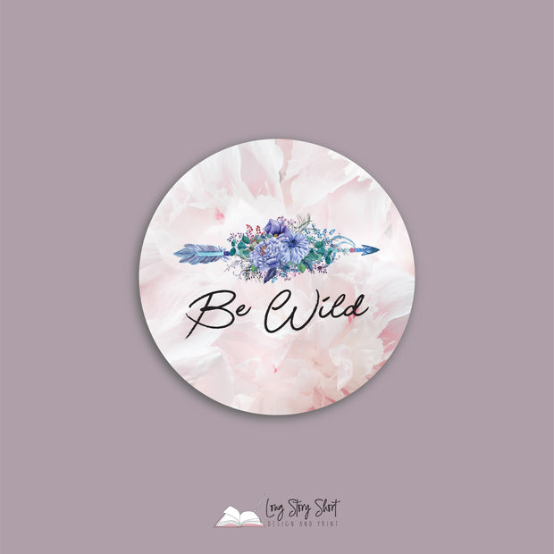 Boho BE Range. Floral Round Vinyl Label Pack