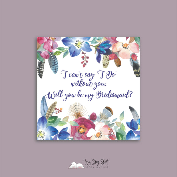 Will You Be My Bridesmaid Vinyl Label Pack