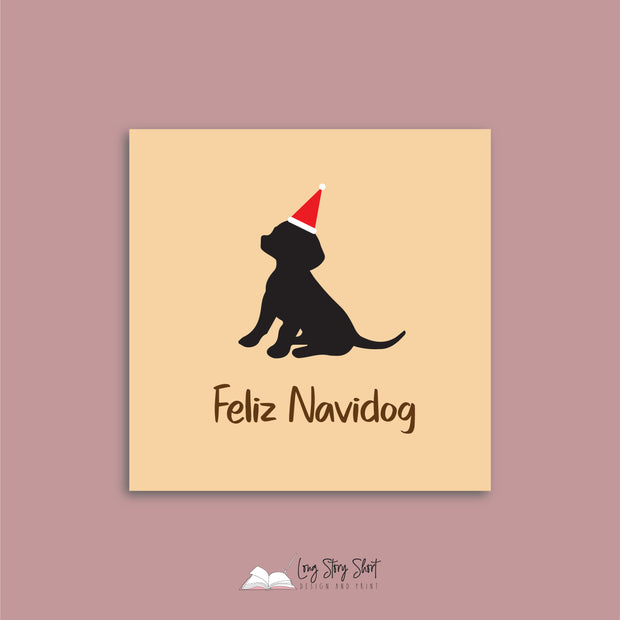 Feliz Navidog Peach Vinyl Label Pack