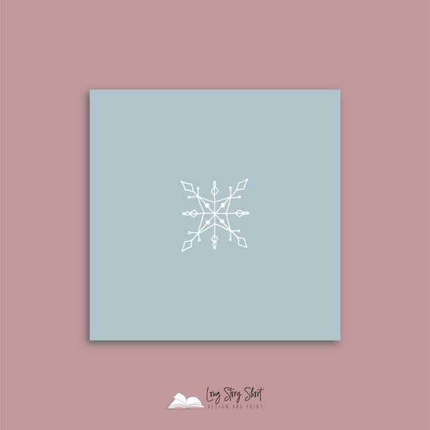 LSS263 Let it Snow Blue Vinyl Label Pack