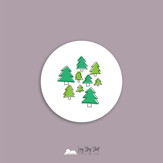 LSS272 Hand Drawn Christmas Vinyl Label Pack