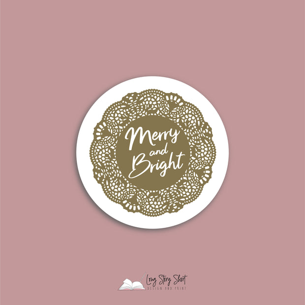 Doily Christmas Vinyl Label Pack