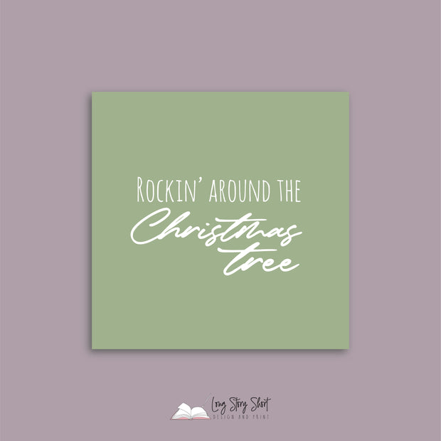 LSS275 Rocking Around the Christmas Tree Green Vinyl Label Pack