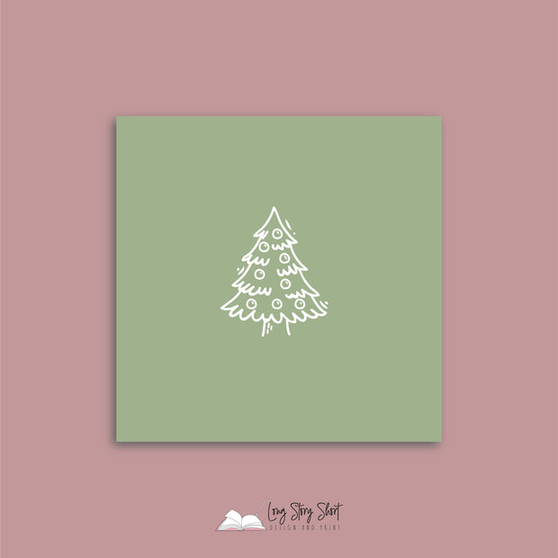 Rocking Around the Christmas Tree Green Vinyl Label Pack