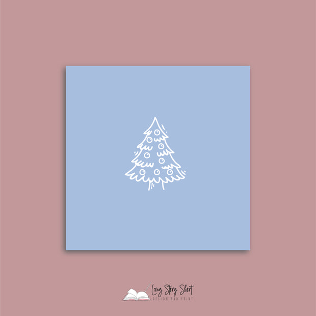 LSS277 Rocking Around the Christmas Tree Blue Vinyl Label Pack