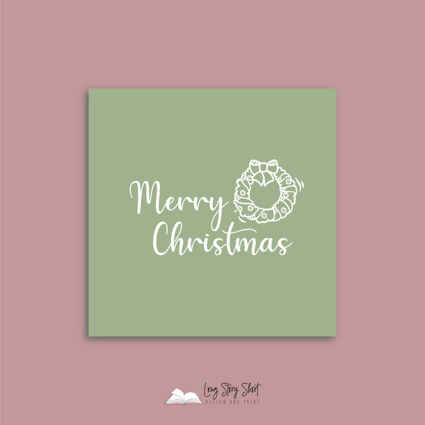 LSS285 Christmas Greetings Green Vinyl Label Pack