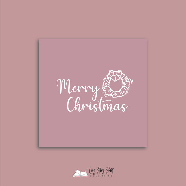 Christmas Greetings Pink Vinyl Label Pack