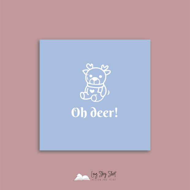 LSS287 Oh Deer Blue Vinyl Label Pack