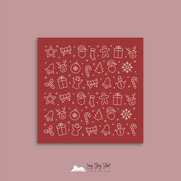 Joy to the World Red Vinyl Label Pack