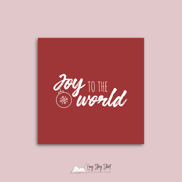 LSS290 Joy to the World Red Vinyl Label Pack