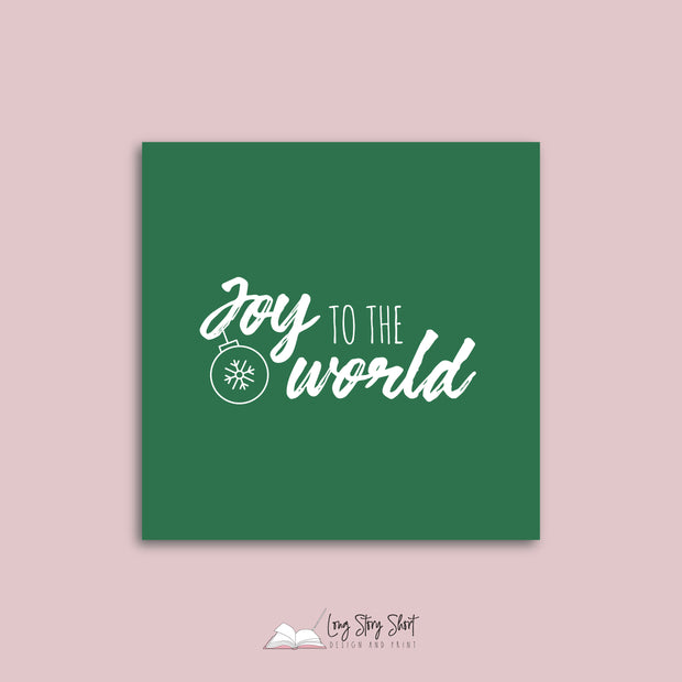 LSS291 Joy to the World Green Vinyl Label Pack