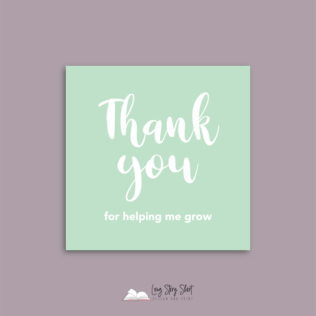 LSS298 Thank you for helping me grow Vinyl Label Pack