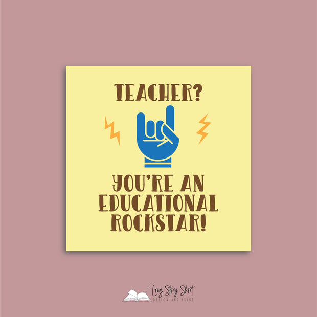 Rockstar Teacher Vinyl Label Pack