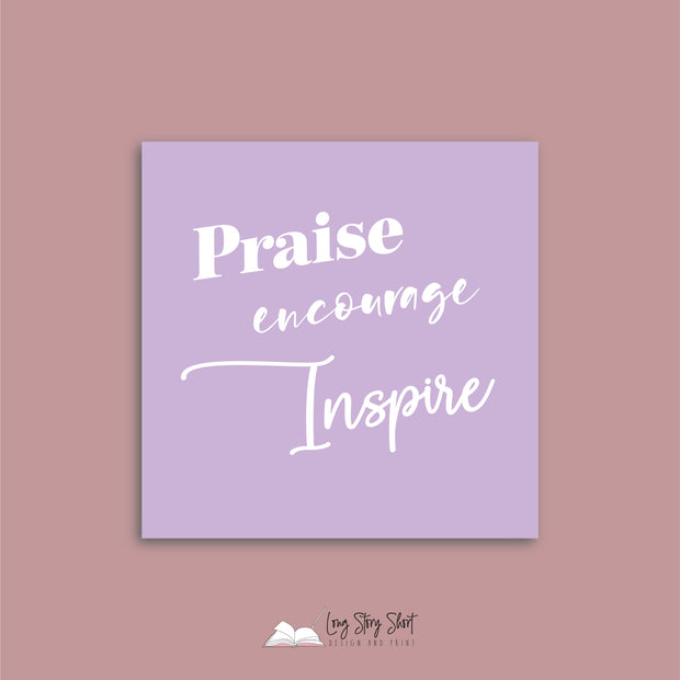 LSS303 Teach Praise Nurture Vinyl Label Pack