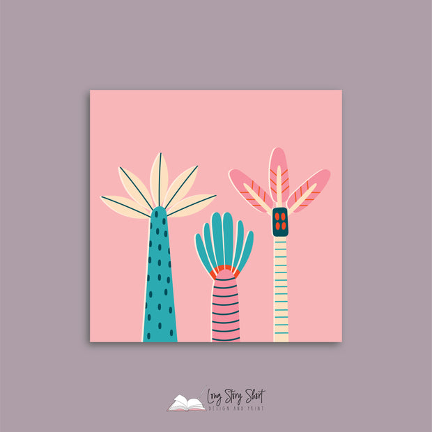 Cute Palm Trees Vinyl Label Pack