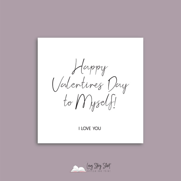 Happy Vday to myself Vinyl Label Pack