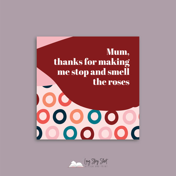 Mothers Day Cute Patterns Vinyl Label Pack