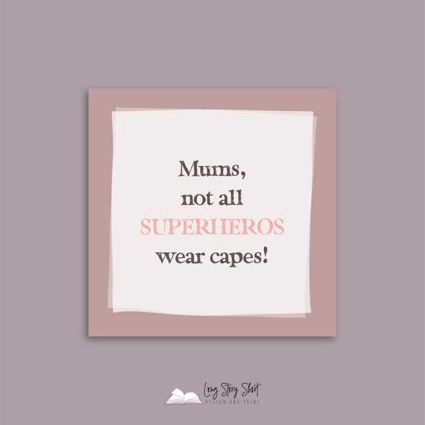 SuperHero Mums Vinyl Label Pack