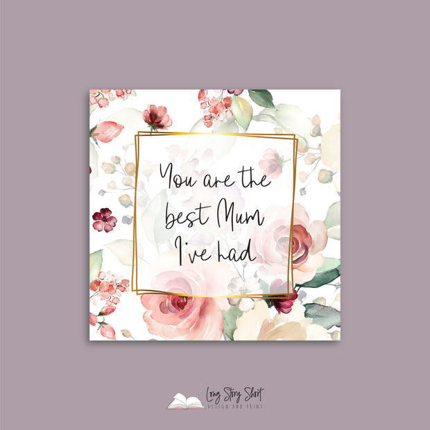 Pink Roses Mothers Day Vinyl Label Pack