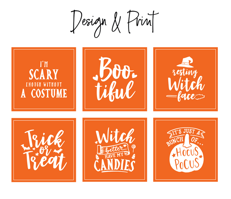Orange Halloween Vinyl Label Pack