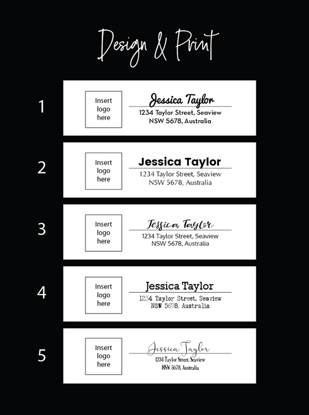 Return Address Vinyl Label Labels