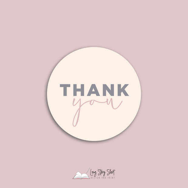Pastel Thank you Vinyl Label Pack