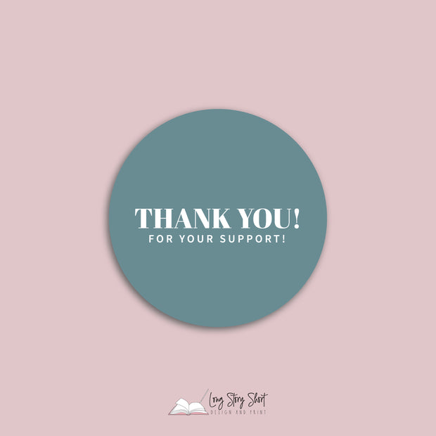 Thank you for your support Vinyl Label Pack