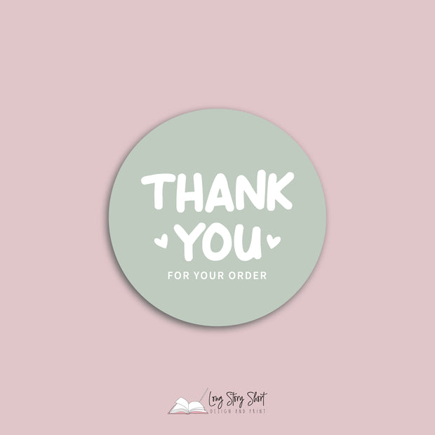 Thank you for your order Vinyl Label Pack