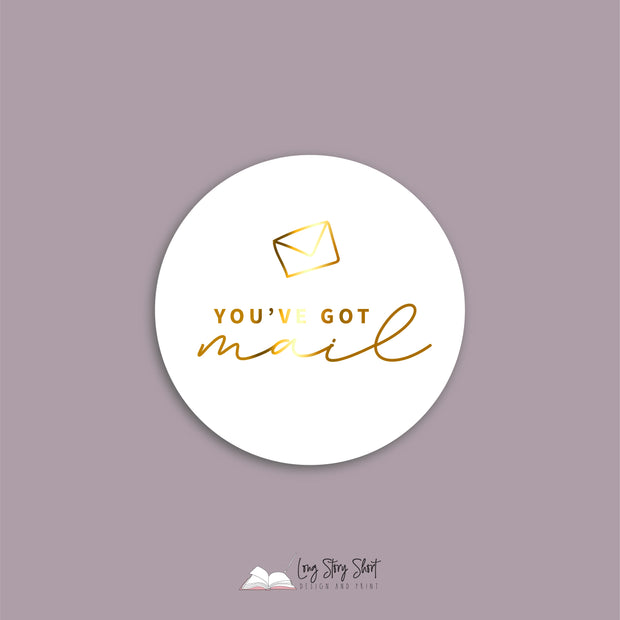 FOILED You've got mail Vinyl Label Pack